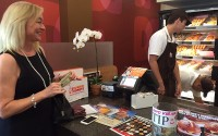 Donna A. Laurent, CFLS at the new Dunkin' Donuts in Encino, CA