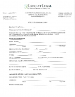 Laurent Legal New Client Intake Form